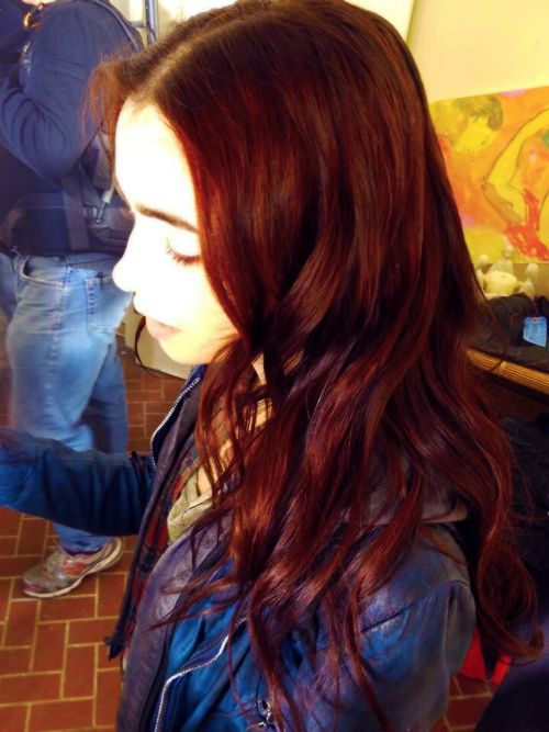 The gallery for --> Lily Collins Red Hair Mortal Instruments
