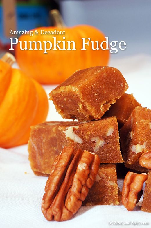 this is different from the other pumpkin fudge. Spicey like pumpkin ...