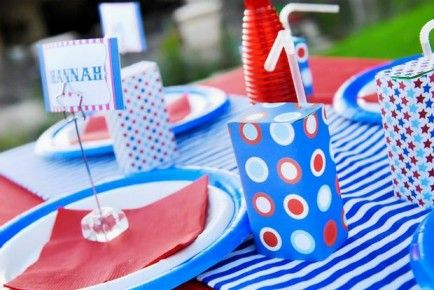 July  Decorations on Patriotic Party  25 Diy 4th Of July Decorations         Party Ideas
