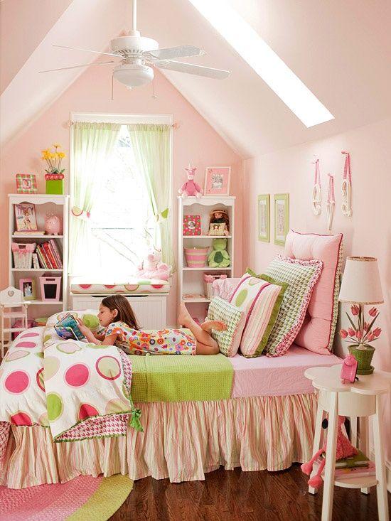 pink & green little girls room