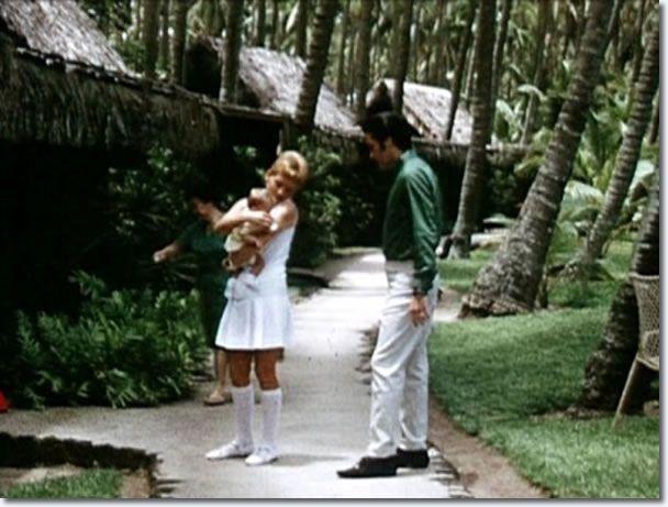 Elvis and Lisa Marie Hawaii, May, 1968