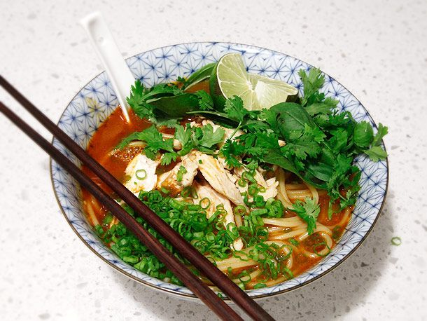 20-Minute Thai Red Curry Noodle Soup with Chicken | Recipe