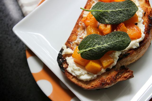 Butternut Squash Ricotta & Sage Crostini. #recipes #foodporn # ...