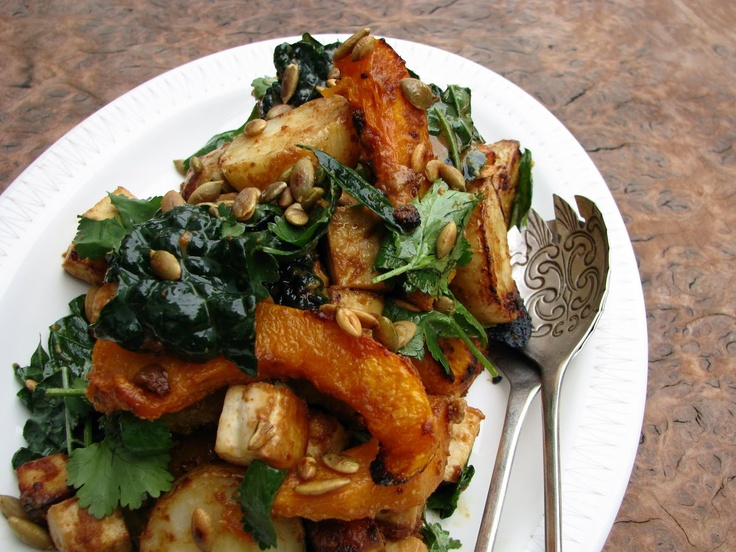my darling lemon thyme: Miso-curry butternut squash with tofu & cavolo ...