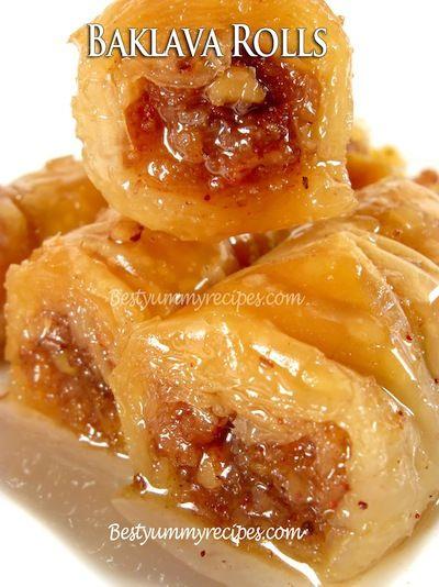 Easy to Make Baklava Rolls Recipe – Food Recipes