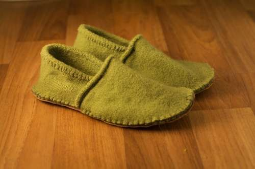 Slippers out of sweaters