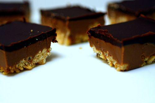 Peanut butter crispy bars | Tasty. | Pinterest
