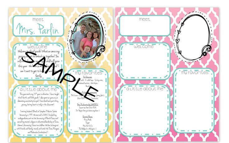 Meet the teacher letter school stuff pinterest for Free meet the teacher template