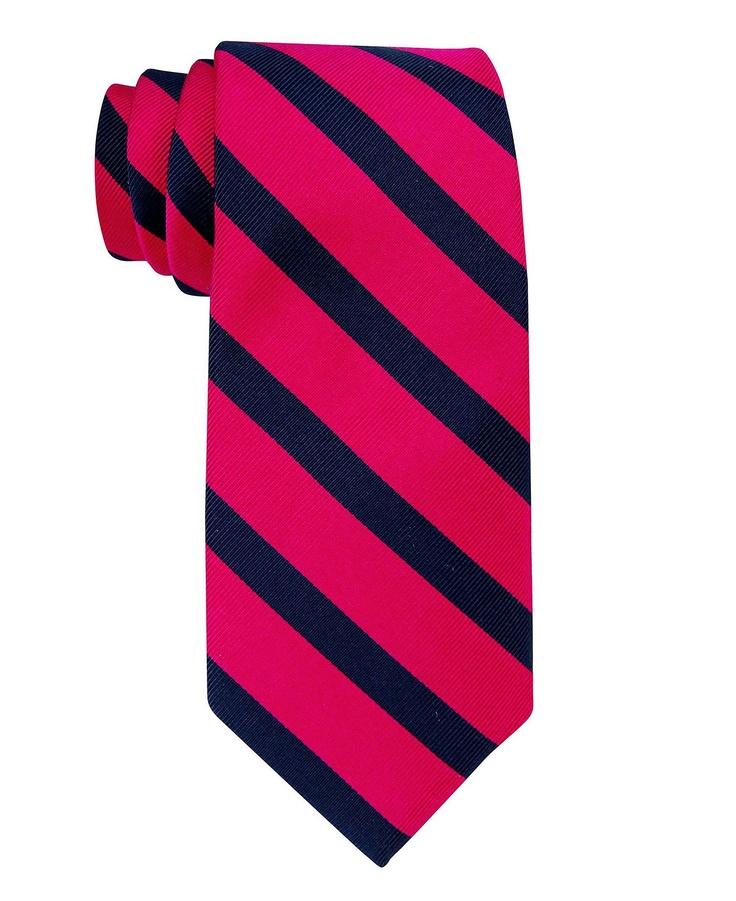 hilfiger vintage slim slide stripe tie