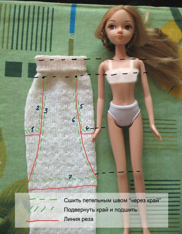 Видео как сделать платье для куклы из пластилина