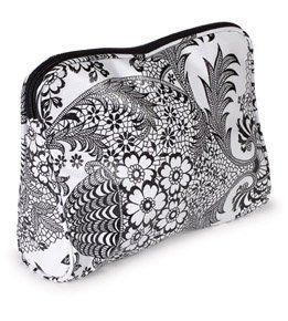 Jane bags large cosmetic bag in white toile oilcloth by mary jane bags