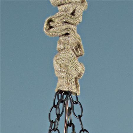 burlap chandelier chain cover. Black Bedroom Furniture Sets. Home Design Ideas