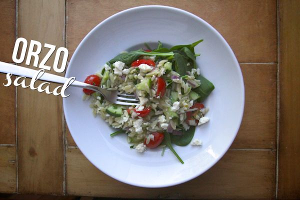 ORZO SALAD // shutterbean | You Don't Win Friends With Salad | Pinter ...