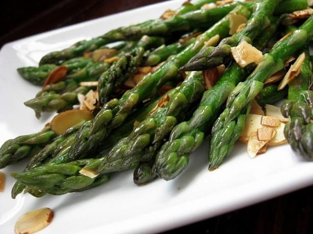 Asparagus w almonds and butter   Recipes   Pinterest