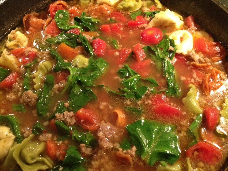 Tortellini Italian Sausage Soup! | look i made it | Pinterest