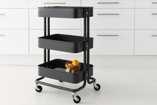 Ikea k ks ar och serveringsvagnar f rvaring pinterest for Apartment makerspace