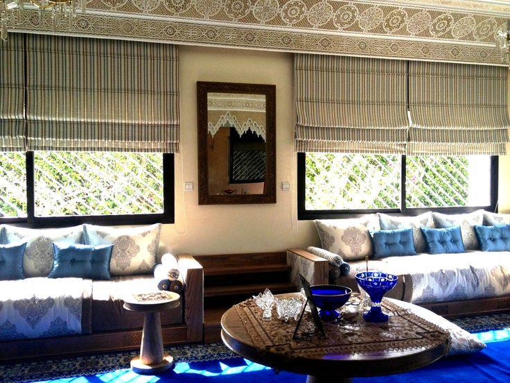 Salle De Bain Beige Et Blanche : Salon Marocain 2016 Bleu: La decoration de maison avec salon marocain …