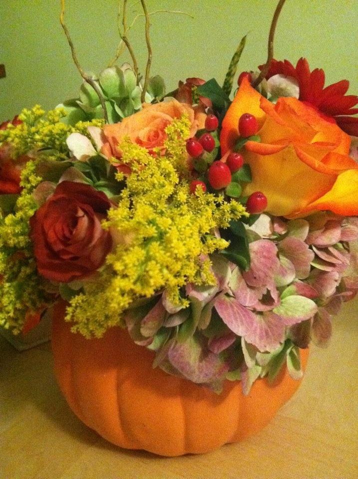 Corinne baker ceramic pumpkin for fall wedding these were gorgeous