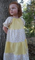 and white seersucker floral girls dress from Classic Clothing Store