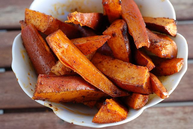 Chili Roasted Sweet Potato Wedges: Very good recipe. Watch the cooking ...