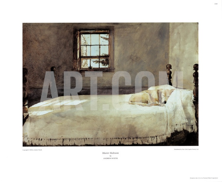 Master Bedroom Print By Andrew Wyeth At 17