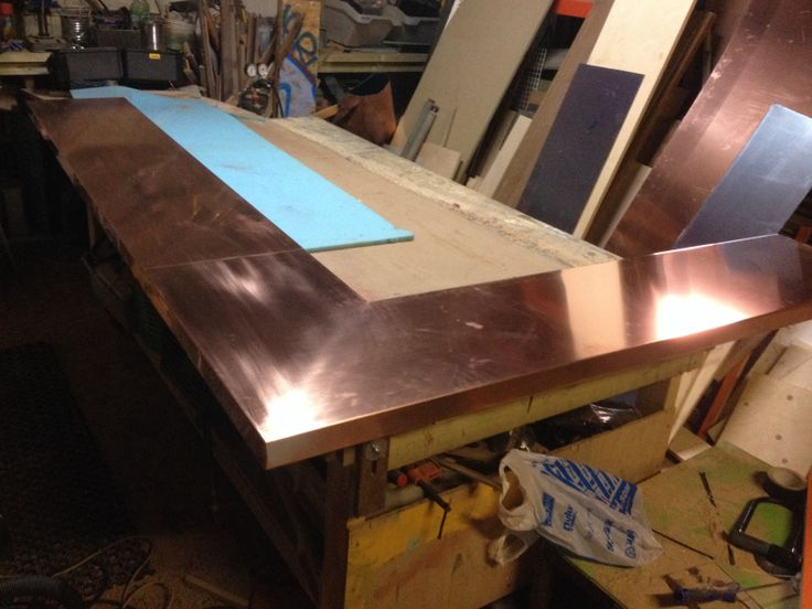 Copper bar top www re creations pinterest for How to make a copper bar top