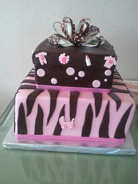 pink zebra baby shower cake baby shower pinterest