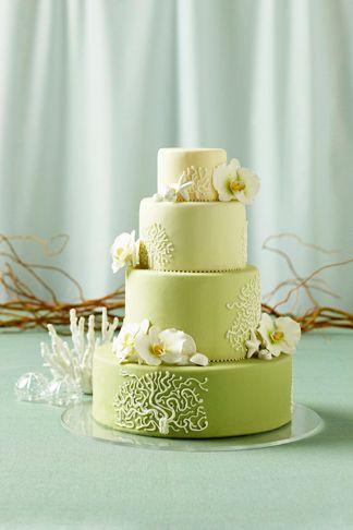 Cute beach wedding cake.