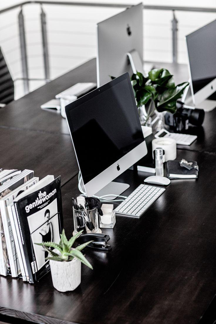 TheUNDONE | Office | Desk | Mac | Plants | Minimal | Gritty Pretty Magazine  | H O M E | Pinterest | Office Desks, Minimal And Desks