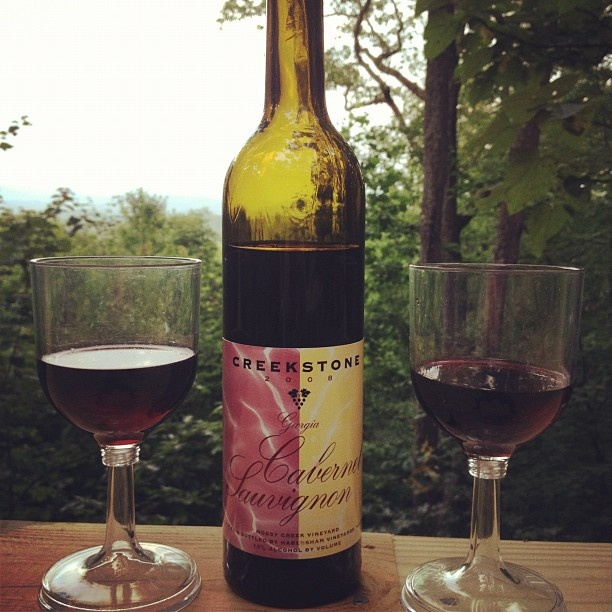 Creekstone wine at the yogi bear shack yoga and wine retreat