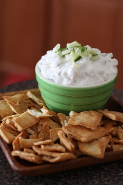 Cucumber and Feta Greek Dip via @Aggie's Kitchen