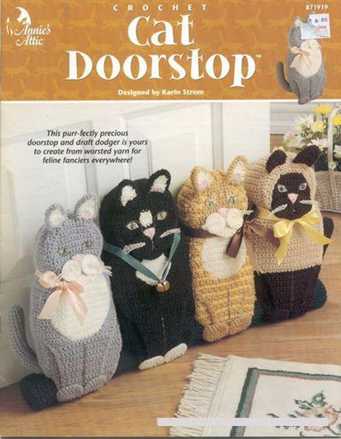 Free Crochet Cat Doorstop Patterns : Pin by Deborah J Murphy on Crochet Toys Pinterest