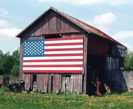 American Flag Barn Barns Etc Pinterest