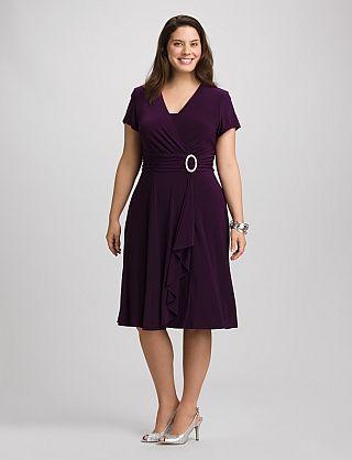 Plus Size Faux Wrap Dresses 56