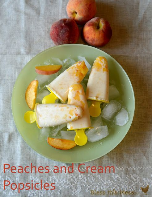 Peaches and Cream Popsicles - Fantastic taste and easy