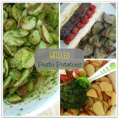 Grilled Pesto Potatoes I Ally's Sweet & Savory Eats