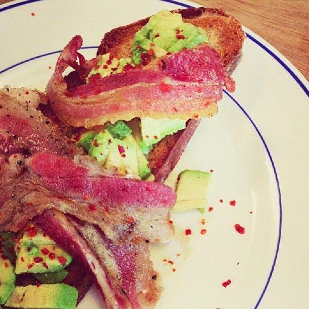 Bacon and avocado on toast | Lurpak on Instagram | Pinterest