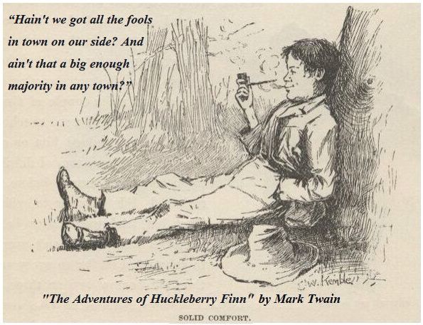 an analysis of the characters jim and huck in the novel the adventures of huckleberry finn by mark t The analysis of the adventures of huckleberry finn in order to save jim, huck pretended to be tom's cousin to the writer of the novel is mark.