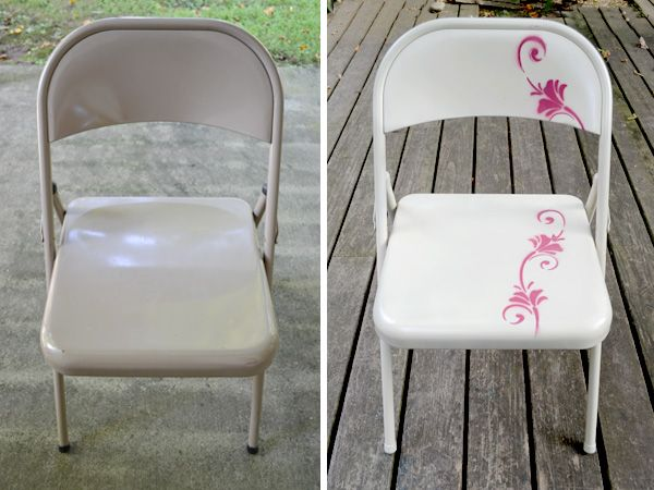 UPCYCLING METAL FOLDING CHAIR MAKEOVER