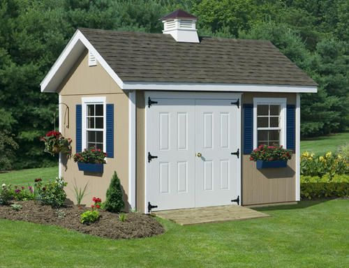 Pin by renae parker on lovely landscapes and curb appeal for Garden shed kits menards