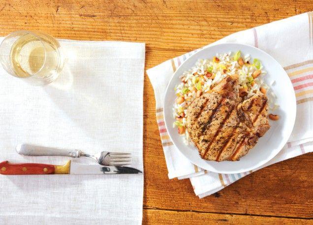 Grilled basil and garlic pork chops | A Baker's Bliss | Pinterest