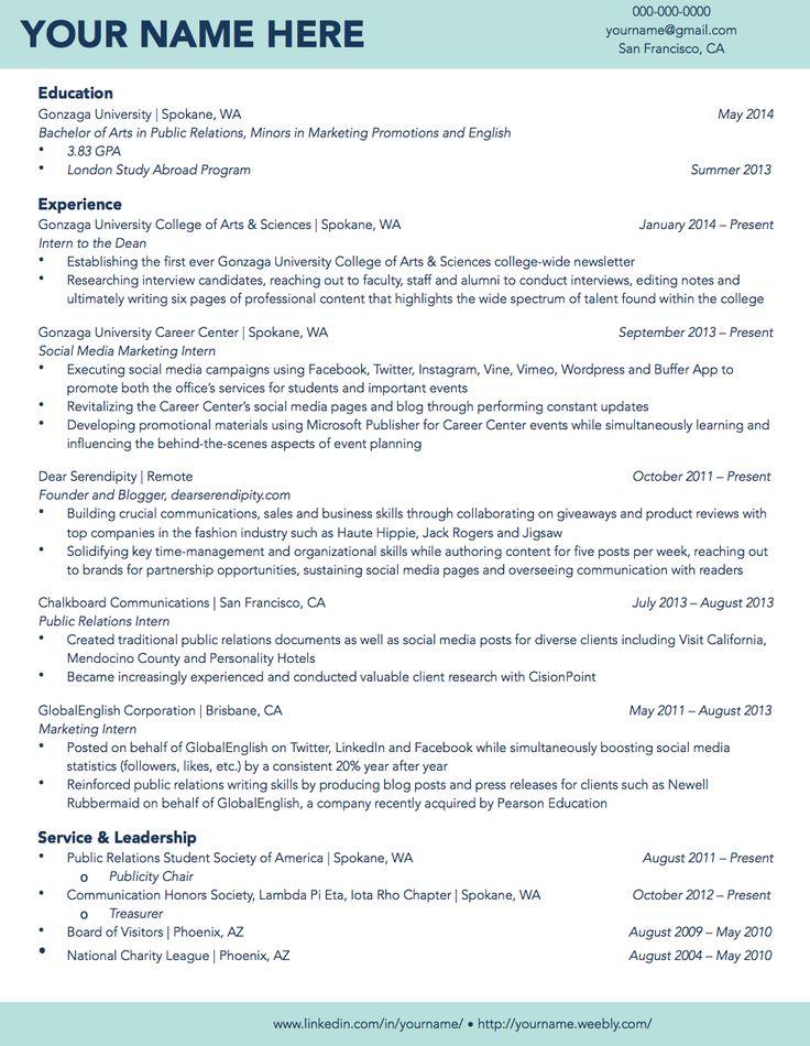 Sample resume college gpa