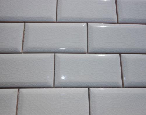 subway tile backsplash hampton beveled crackle white subway tile