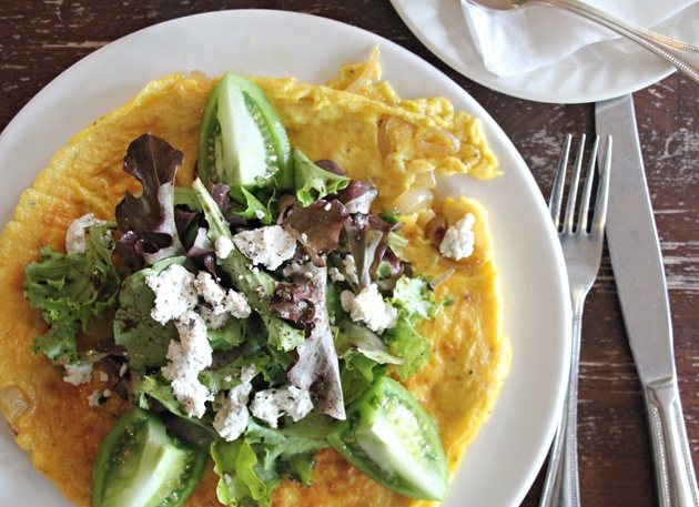 from curious girl blog frittata with caramelized onions, goat cheese ...
