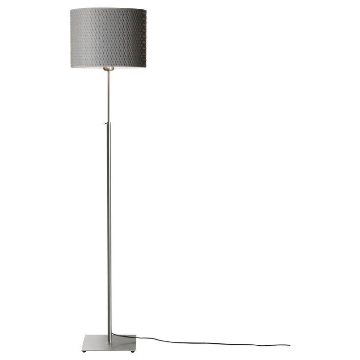 al ng floor lamp nickel plated gray. Black Bedroom Furniture Sets. Home Design Ideas
