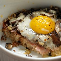 Baked Eggs And Mushrooms In Ham Crisps Recipes — Dishmaps
