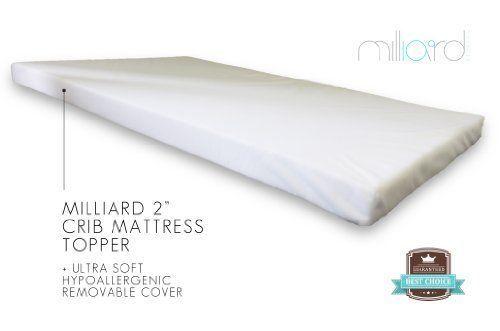 "Milliard 2"" Ventilated Memory Foam Portable Crib Mattress"