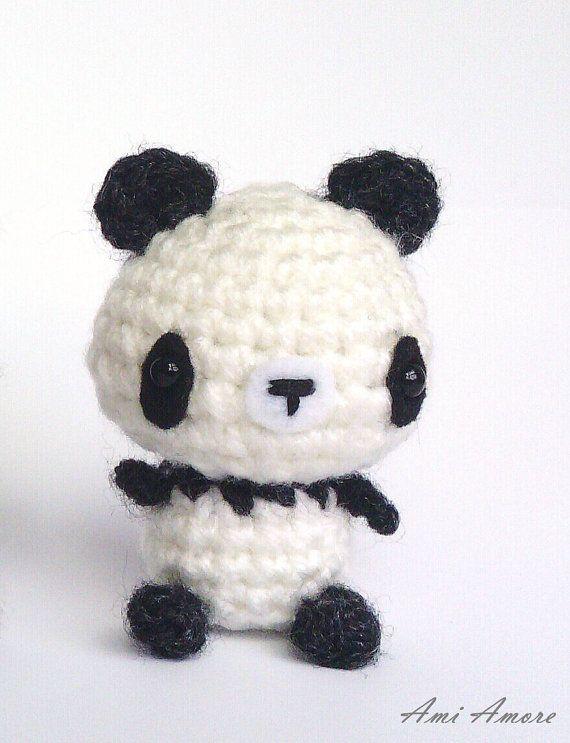 Amigurumi Patterns Panda Bear : Amigurumi Panda Bear - Crochet Animal Plush