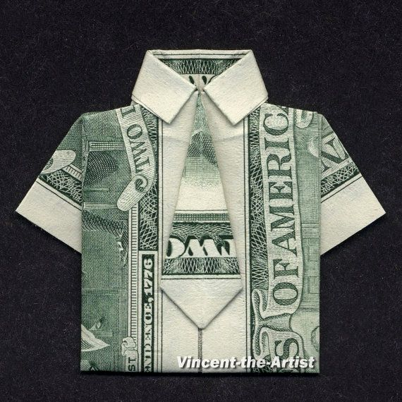 dress shirt money origami clothes dollar bill art