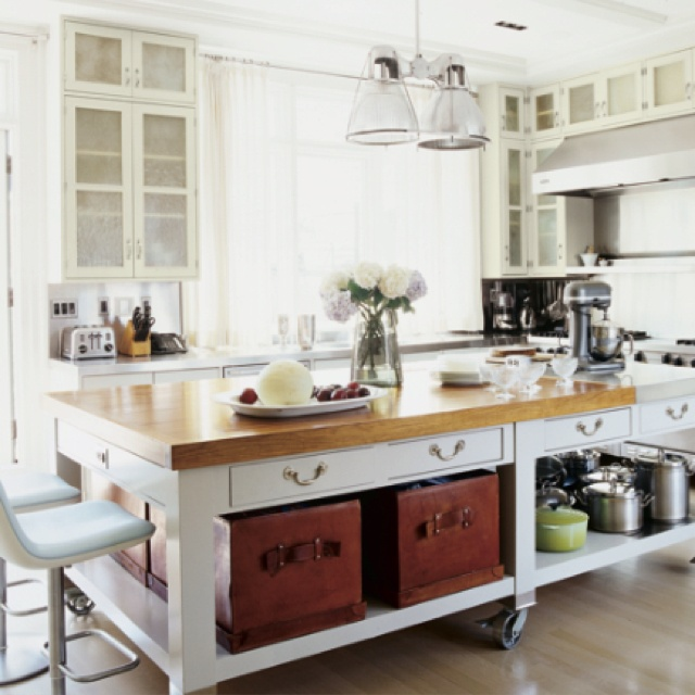 kitchen islands wheels pinterest - photo #34